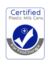 certified milk cans